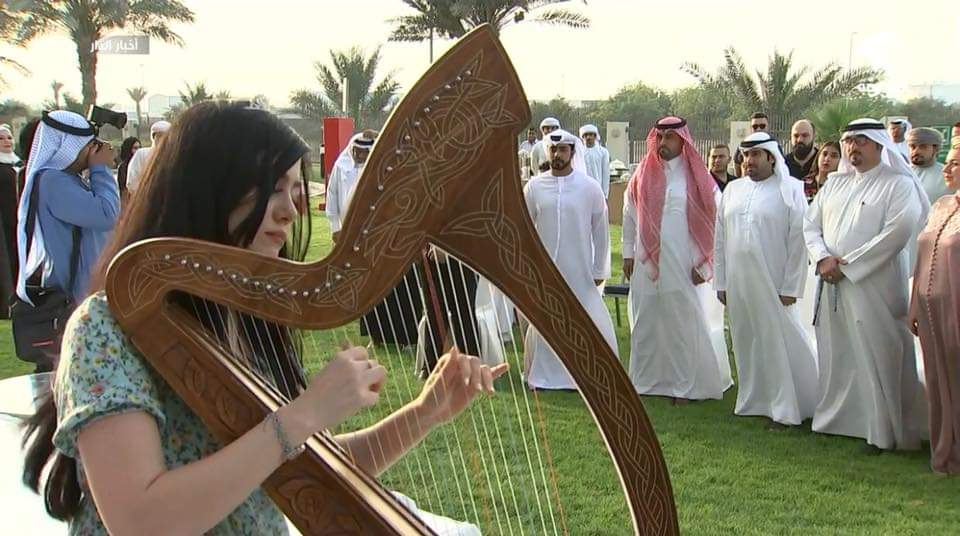 Arabic Harpist - Gae events - Dubai - UAE (6)
